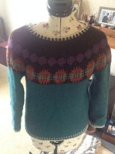 Double weave blankets inspiring a yoke jumper